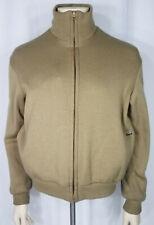 Vintage Izod Lacoste Brown Tan Beige Reversible full zip Jacket Coat mens Medium