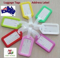 5 X Luggage Tags Suitcase Travel ID Tag Plastic Address Label Backpack Handbag