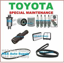 1991-95 TOYOTA PREVIA TUNE UP KITS: SPARK PLUGS, BELTS; AIR, FUEL & OIL FILTER