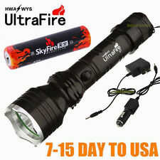 500 METER 1500 LUMEN TACTICAL CREE LED FLASHLIGHT TORCH LAMP + AC DC Charger 7CB