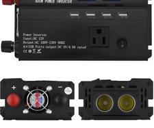3000W Solar Power Inverter DC12V to AC110V Car Sine Converter Charger
