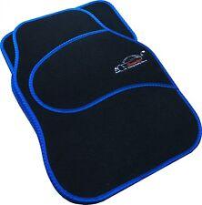 Full Black Carpet Car Floor Mats With Blue Boarder For All Vauxhall Models