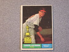 1961 TOPPS #395 CHUCK ESTRADA ORIOLES SIGNED AUTOGRAPHED CARD - FREE SHIPPING