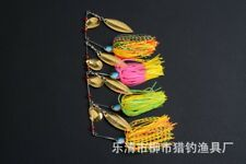 4x Fishing Buzzbait Spinnerbait Spinner Lure Lures Double Metal Blade