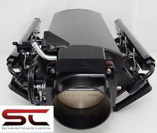 BLACK LOW 102mm Welded LS1 Intake Manifold Fuel Rails Throttle Body Fabricated