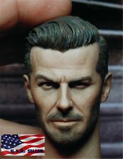 "1/6 Scale David Beckham Custom Head Sculpt For 12"" Hot Toys Phicen Male Figure"
