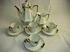 VINTAGE ART DECO VICTORIA CHINA CZECHOSLOVAKIA CHOCOLATE ESPRESSO SET