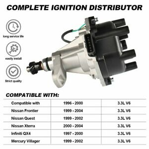 Ignition Distributor  for Nissan Frontier Quest Xterra 2000-2004 3.3L V6