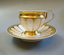 Biedermeier Porzellan Tasse Gedeck Gold KPM Berlin um 1830
