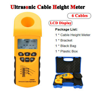 SMART SENSOR LCD Display 6 Cables Ultrasonic Cable Height Meter Measuring Tester