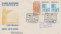 BRAZIL 1966 10th anniversary of air traffic with Rio de Janeiro SPECIAL FLIGHT