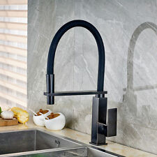 Black Oil Kitchen Swivel Spout Pull Down Sink Faucet Spray Mixer Single Hole Tap