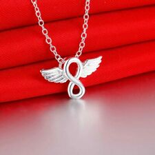 Hot 925 sterling Silver little angel pendant Necklace for women Fashion jewelry