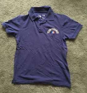 Mens Le Tour De France Polo Shirt - Blue Medium