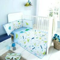 Cot Bed Baby Bumper Set Boys Girls Nursery Coverlet Jersey Fitted Sheet Premium