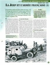 4X4 Jeep Willys MB Ford GPW Bautam AMPHIBIOUS GPA WWII France FICHE FRANCE