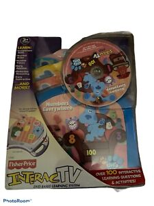 NIB FISHER-PRICE INTERAC TV BLUES CLUES  DVD LEARNING SYSTEM