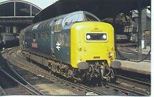 Deltic 55021 ARGYLL & SUTHERLAND HIGHLANDER Newcastle 1975 unused postcard