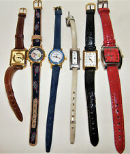 "Vintage (6) LADIES WRIST WATCH LOT ""Parts Or Not"" Lucian Piccard~Blass~Skagen..."