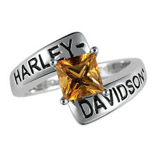 Harley-Davidson Ladies Silver Crossroads Ring - size 6