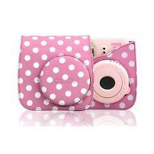 Pink Leather Polka Dot Camera Case Bag For FUJIFILM Instax Mini8 Mini8s Special