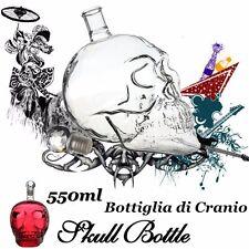 550ML Bouteille de Vin Verre Cristal Tête Mort Head Skull Crâne Vodka Whiskey NF
