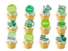 24 x Macmillan Cancer Support STAND UPS Fairy Cup Cake Toppers Edible Rice Paper