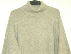 M&S Collection Roll Neck Lambswool Mix Grey Marl  UK Size 24 Petite  RP £32.50