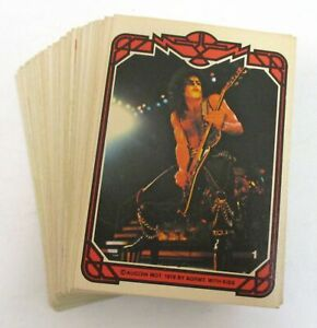 Lot Of 57 Vintage KISS Trading Cards 1978 Donruss Series 1 Near Complete