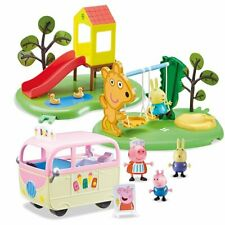 Peppa & Friends Park Playset Juguetes Day At The paquete Swing, diapositiva, helado van