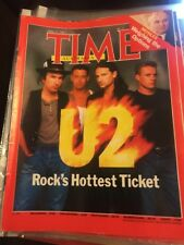 Vintage TIME MAGAZINE 1987 U2 Rock's hottest Ticket