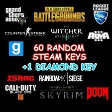 60x random steam key + 1 diamond key with high value fast delivery 🔑+Gift 🔑