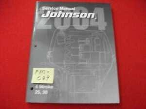 "2004 JOHNSON/BMC OUTBOARDS 25, 30 HP 4-STROKE ""SR"" SERIES SERVICE MANUAL EXC."