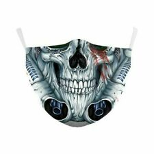 Skull Ghost Reusable Face Mask - Machine Washable - Moulds to your face