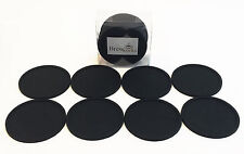 Brew Works Drink Coasters - Set of 8 Black Silicone Damaged Packaging See Desc