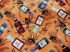 Boo Brew Spiders on Spooky Documents Timeless Treasures Fabric Multiple Size