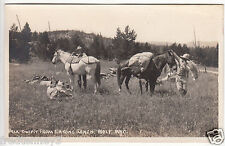 Rppc - Wolf, Wy - Pack Outfit from Eaton's Ranch - Cowboy Scene - 1920s era