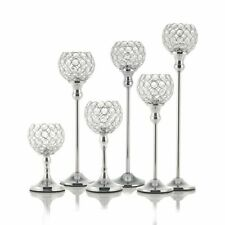 Crystal Candle Holders Coffee Dining Table Metal Candlesticks Wedding Decoration