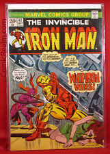 The Invincible Iron Man #62 (1973) Marvel Whiplash Returns B&B VF-!