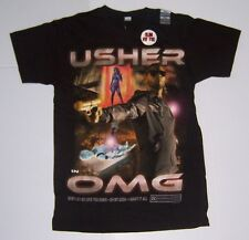 USHER OMG MEN'S BLACK SHORT SLEEVE SLIM FIT T-SHIRT SIZE SMALL NWT