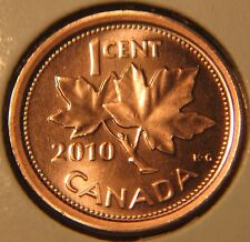 CANADA Lot of 3 x 1 CENT 2010L non-magnetic -MS