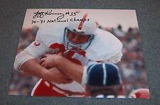 Nebraska Huskers Jeff Kinney Signed Autographed Photo 70-71 National Champs A