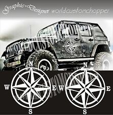 ADESIVI DECAL STICKERS FUORISTRADA 4X4 OFF ROAD JEEP STELLA BUSSOLA UNIVERSALE