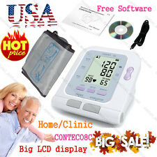 FDA&CE Automatic Digital Upper Arm Blood Pressure Monitor Cuff+ USB PC Software