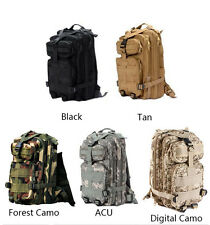 NEW Black Outdoor Military Sport Camping Hiking Tactical Backpack Rucksacks