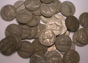Lot of 40 (1 roll) 1943 S Wartime Nickel Silver Coins