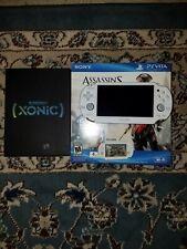 Sony PlayStation Vita Bundle White Handheld 32gb card