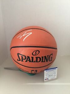 LAKERS HEAT CHAMPION SHAQUILLE O'NEAL SIGNED SPALDING Basketball PSA WITNESS COA