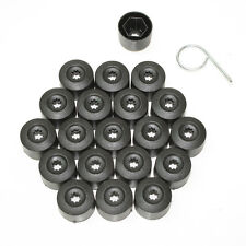 17mm Black Car Bullone Dado Ruota Coperture Tappi Per Vw Golf Mk4 Beetle
