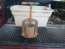 Antique Cast Iron Juicer Complete